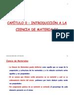 2012 t1 Capitulo 0 Introduccion a La Ciencia de Materiales