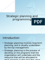 Strategic Planning and Programming Chapter 7