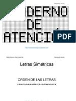 Cuaderno de Atencion Consonantes Simetricas