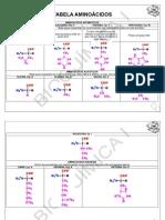 Tabela resumo aminoácidos