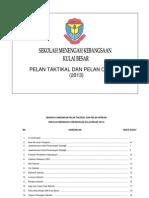Pelan Taktikal & Operasi SMKKB 2013