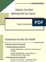 Gestiunea Riscului Opera_ional Pe Tipuri