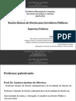 Palestra Nocoes de Direito Dr Gustavo