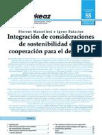 Integración de consideraciones de sostenibilidad en la cooperación para el desarrollo