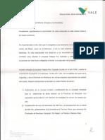 Carta de Vale a la Comisión de Minería, Energía y Combustibles