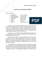 Propuesta de Nueva Junta Directiva ASOIVE