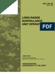 Long-Range Surveillance Unit Operations