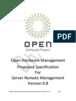 Open Compute Project Open Hardware Machines Management