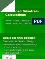 2005CON Advanced Drivetrain Calcs