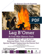 Colorado Hebrew Chorale Presents Lag B'Omer at Four Mile Historic Park