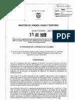 Decreto 1629 de 2012 Sgp