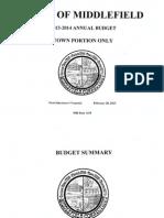 Middlefield budget