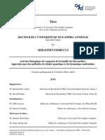 Activités biologiques de composés de la famille des flavonoïdes