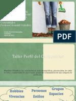 Taller Perfil de Consumidor, Sonia Verjel