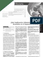 Desmedros Implicancia Tributaria en Imp Remta 2012 Peru