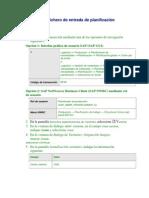 Definición del fichero de entrada de planificación