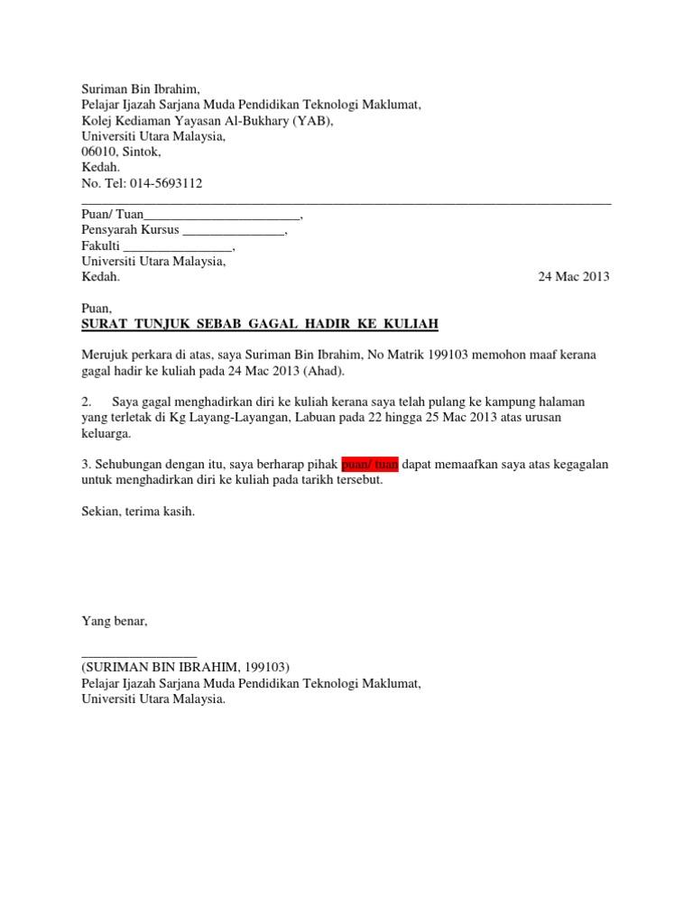 Surat Rasmi Cuti Sekolah Kerana Balik Kampung - Selangor q