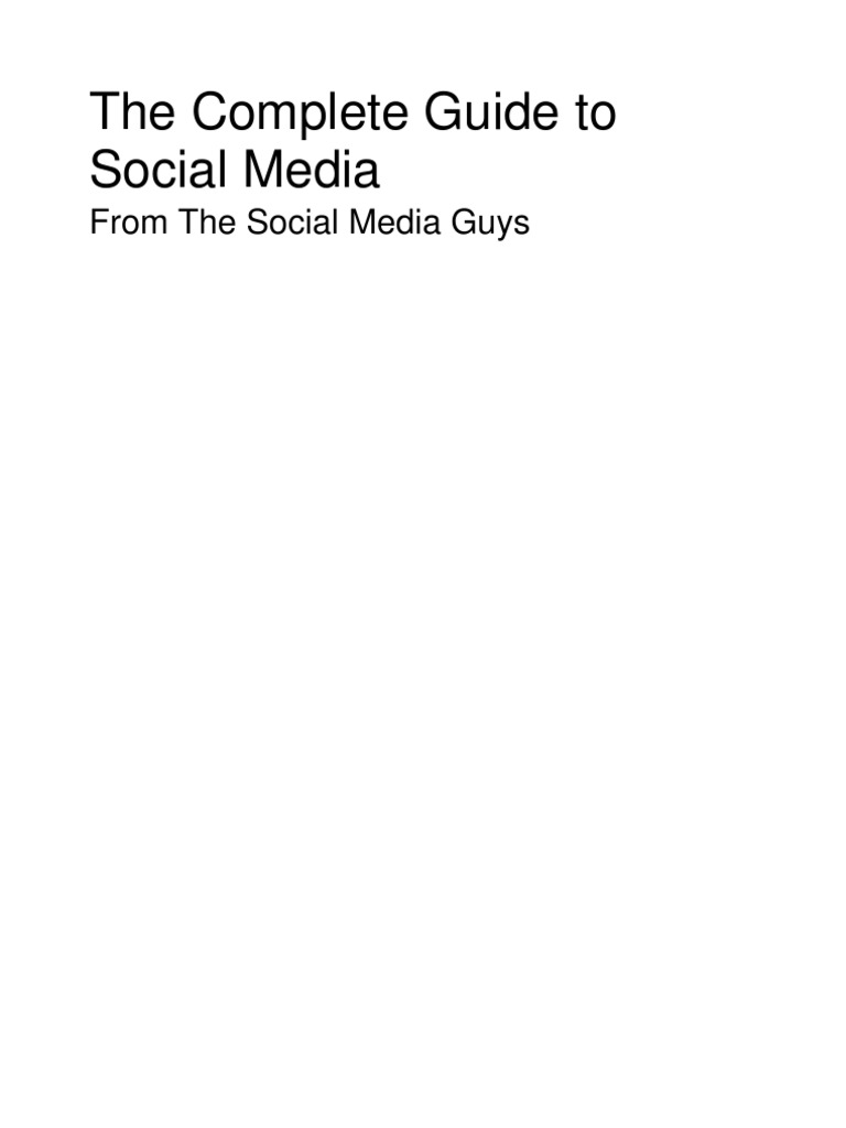 Complete Guide to Social Media | Social Networking Service | Social Media  Marketing