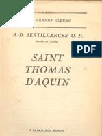 Sertillanges, A.D.,Saint Thomas d'Aquin