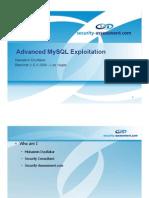 Advanced MySQL Exploitation
