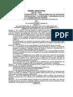 Ley 1615 Del 2000 de La Reforma