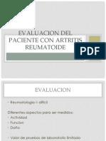 Evaluacion Del Paciente Con Artritis Reumatoide