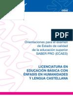Guia Humanidades y Lengua Castellana Para Pruebas Saber Pro
