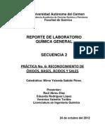 Reporte de Quimica3