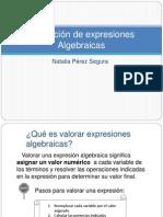 Valoración de expresiones Algebraicas