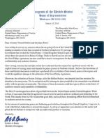 Rep Robert Brady letter