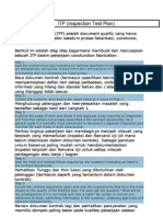 ITP Inspection Test Plan