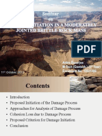 Damage Initiation in a Moderately Jointed Brittle Rock Mass