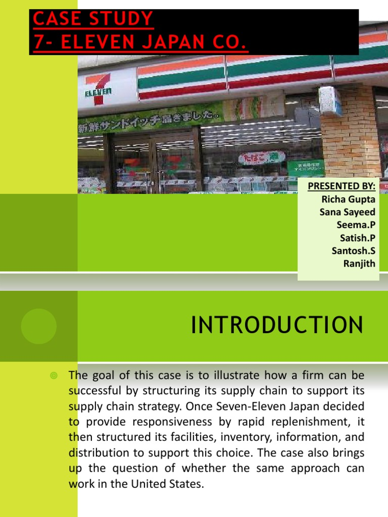 7-eleven case essay Essay sample on 7 eleven pest analysis topics specifically for you order now political factors include aspects such as laws on maternity rights, data protection and even environmental policy: these three examples alone have an on impact employment terms, information access, product specification and business processes in many businesses globally.