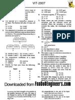 VIT 2007 Solved Paper