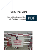 Funny Thai Signs