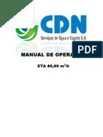 MANUAL OPERAÇÃO - ETA