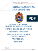 Secion Educativa de Cancer de Cuello Uterino