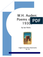 Auden as Poet of Thirties