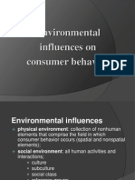 environmental influences on consumer behavior