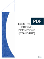 Electricity Pricing Definitions