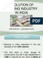 Evolution of Banking Industry in India