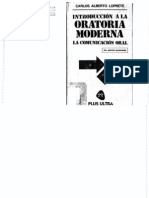 Introduccion a La Oratoria Moderna - Carlos Alberto Loprete