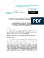 Comparative Analysis of Sine Triangle and Space Vector Pwm for Cascaded Multilevel