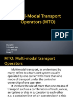 Multi-Modal Transport Operators (MTO)