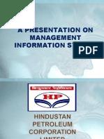 Presentation on Management Information System of HPCL
