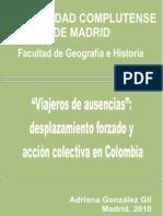 aViajeros de Ausenciasa_ Desplazamiento - GonzA!Lez Gil, Adriana(Author)