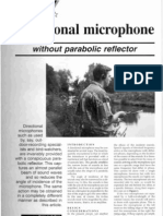 Directional Microphone Without Parabolic Reflector