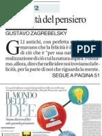 Il Mondo Delle Idee, Di GUSTAVO ZAGREBELSKY - La Repubblica 10.04.2013