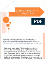 Fanatical Atheism – a Growing Threat
