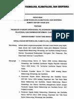 Dokumen Standar Operasional Prosedur Peringatan Dini Pelaporan Dan Diseminasi Informasi Cuaca Ekstrim